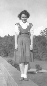 A very young teenaged Louise Taylor, taken sometime in the mid 1930s.